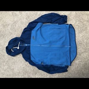 Men's XXL Nike blue zip up with hood
